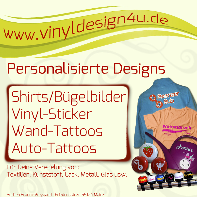 Willkommen bei Vinyl Design for you !